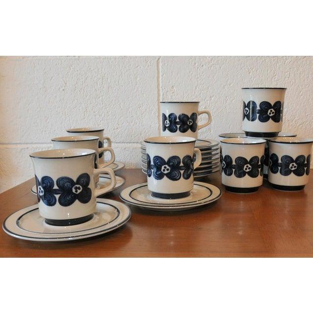 Mid-Century Design Four Cobalt Mugs & Saucers - 10 - Image 4 of 9