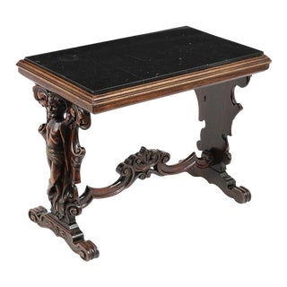 French Antique Renaissance Carved Side Table For Sale