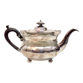 Antique Silver Plated Copper Teapot For Sale