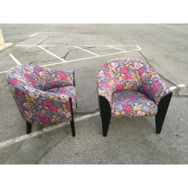 1990s Vintage Dakota Jackson Post Modern Club Chairs- A Pair For Sale - Image 9 of 10