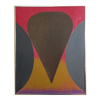 "Modern Abstract ""Wall to Wall"" Geometric Painting by David Seccombe For Sale"
