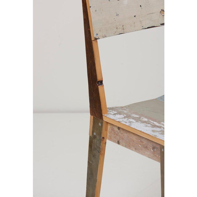 2000 - 2009 Set of Four Lacquered Oak Chairs in Scrapwood by Piet Hein Eek For Sale - Image 5 of 13