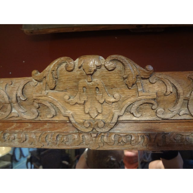 Pair of 19th Century French Carved Oak Mirrors For Sale - Image 11 of 11