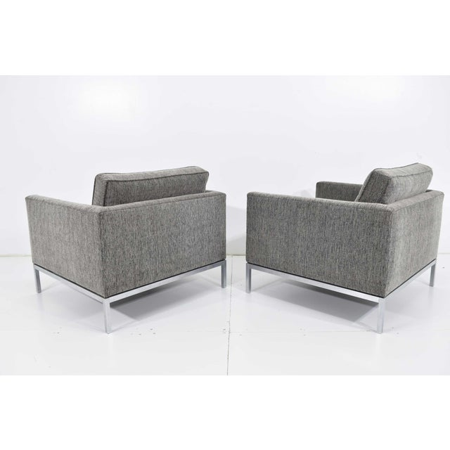 Metal 1960s Florence Knoll Chairs - a Pair For Sale - Image 7 of 13