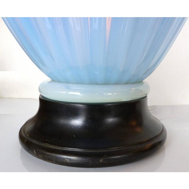 Mid-Century Modern Blue Murano Glass Table Lamp by Marbro For Sale In Miami - Image 6 of 9