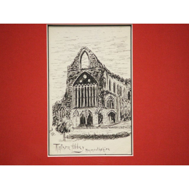 Red Five Postcard Pen & Ink Drawings, Circa 1910 For Sale - Image 8 of 10