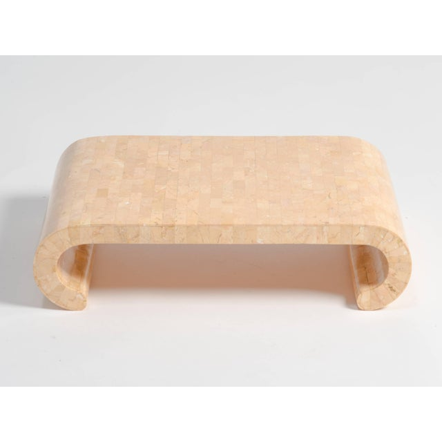 Mid-Century Modern Small Tessellated Stone Stand For Sale - Image 3 of 6