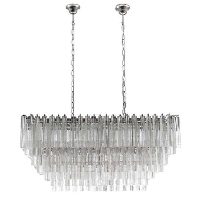 Venini Triedri Rectangular Chandelier For Sale - Image 6 of 6