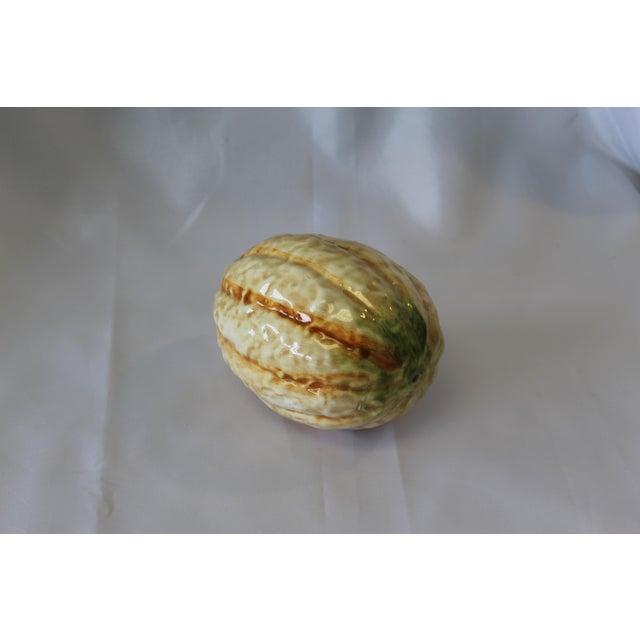 Late 20th Century Vintage Italian Ceramic Cantaloupe For Sale - Image 5 of 5