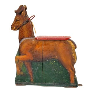 19th Century European Carved Deer Carousel Ride For Sale
