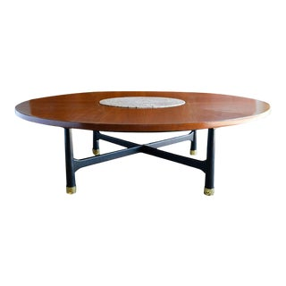 Walnut and Terrazzo Coffee Table by Harvey Probber, Ca. 1960 For Sale