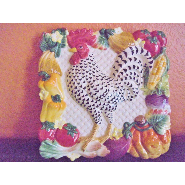 Fitz & Floyd Classics Rooster Plate For Sale - Image 9 of 9