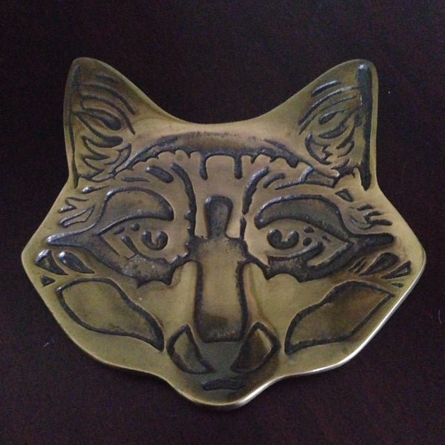 Vintage Brass Fox Catch All Tray - Image 3 of 11