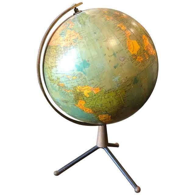 1950s Italian Mid-Century Modern Brass and Bakelite Globe Table Lamp For Sale - Image 13 of 13