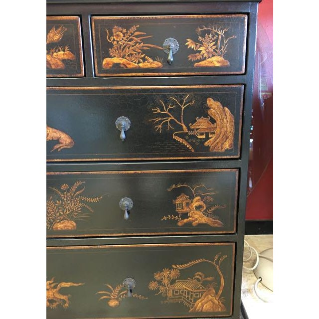 2010s Dennis and Leen Chinoiserie Lacquer Dresser Chest of Drawers For Sale - Image 5 of 13