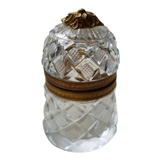 Little Round Crystal Box For Sale
