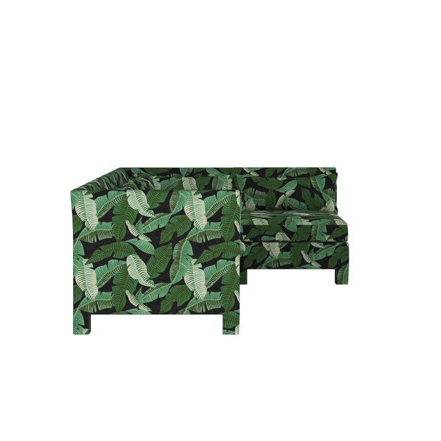 Transitional Banana Palm Black 4 Piece Sectional For Sale - Image 3 of 9