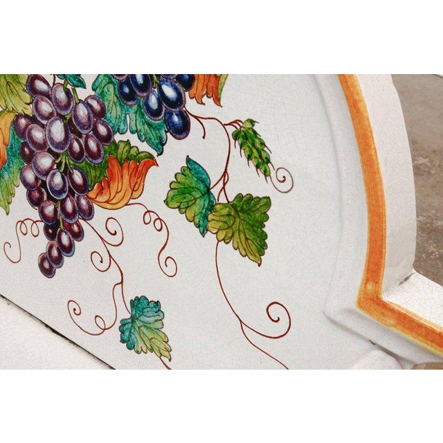 Italian Pottery Ceramic Hibachi or Garden Sink Surround For Sale - Image 9 of 13