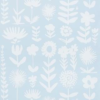 Sample - Schumacher X Vera Neumann Wild Things Wallpaper in Sky For Sale