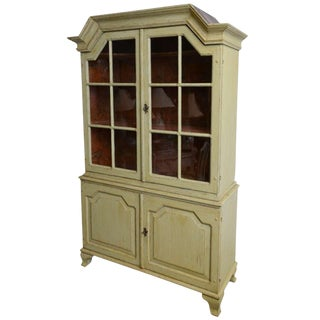 18th Century Antique Period Baroque Painted Cabinet For Sale