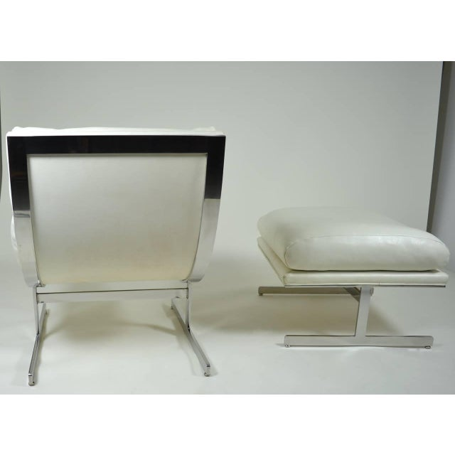 Modern Lounge Chair and Ottoman by Kipp Stewart for Directional, circa 1970 - Image 9 of 10
