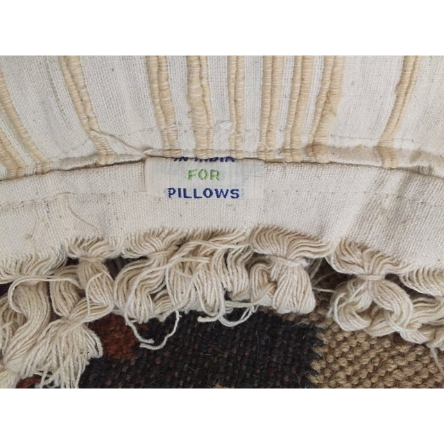 White Fringed Woven Pillows - A Pair For Sale - Image 5 of 6