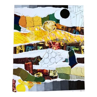 """Nancy Smith """"Total Eclipse of the Art"""" Original Collage For Sale"""