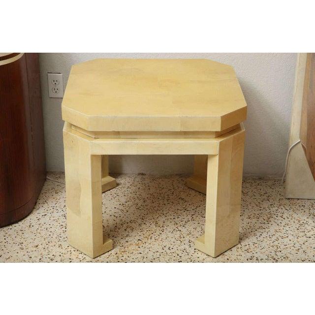 Asian Large Enrique Garces Parchment End Table For Sale - Image 3 of 10