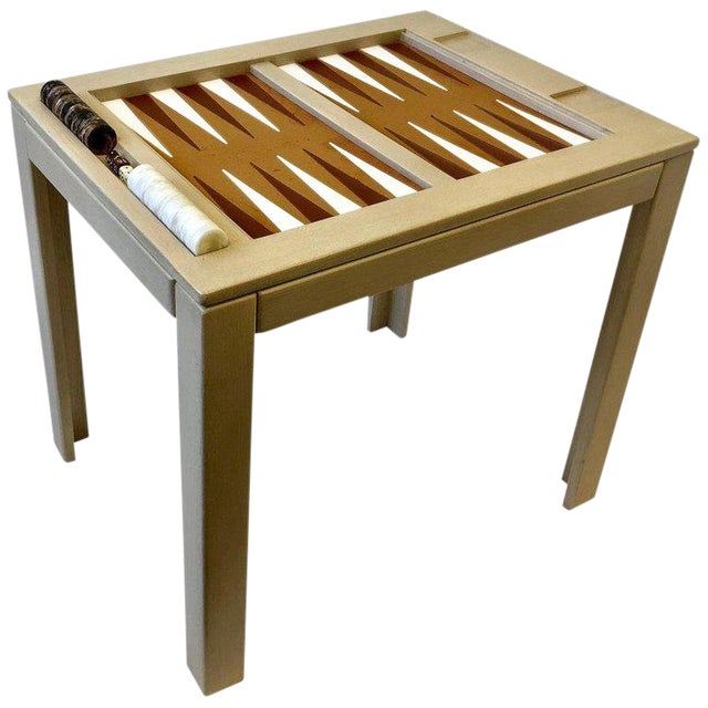 Lacquered Backgammon Table by Steve Chase For Sale