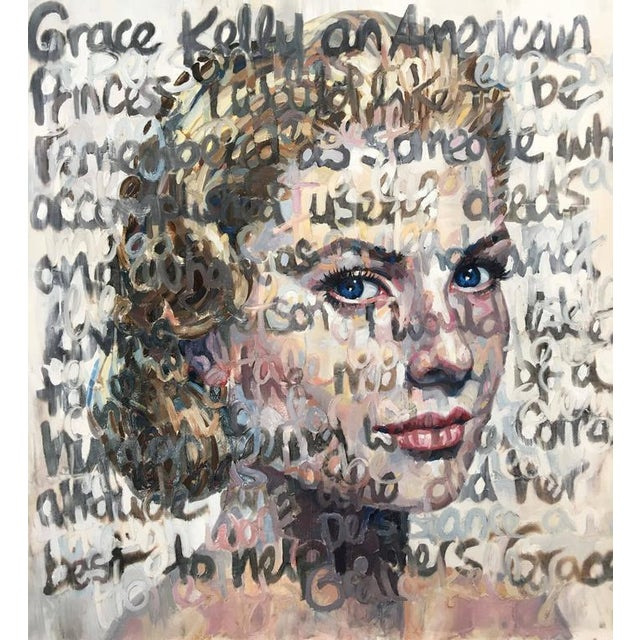 """Grace Kelly"" Oil on Canvas Painting - Image 7 of 7"