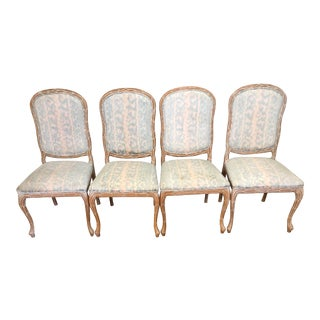 Serge Roche, Palm Beach/Hollywood Regency Faux Bois Dining Chairs - Set of 4 For Sale