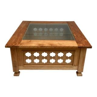1990s Mediterranean Iksun Teak Outdoor Table For Sale