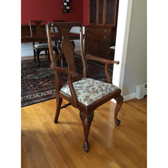 Wood Craftique Solid Mahogany Dining Set For Sale - Image 7 of 10