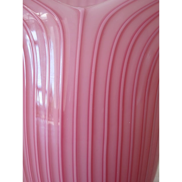 Art Nouveau Pink Murano Glass Table Lamps by Venini (2 Available) For Sale - Image 3 of 5