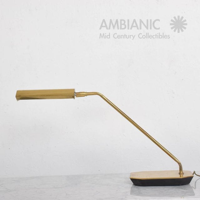 Brass Mid-Century Anthony Howard for Koch & Lowy Brass Desk Lamp For Sale - Image 7 of 7