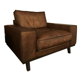 Large Leather Club Chair For Sale