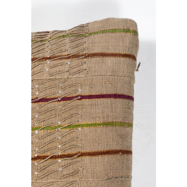 Silk Vintage African Ashante Textile Pillow For Sale - Image 7 of 8