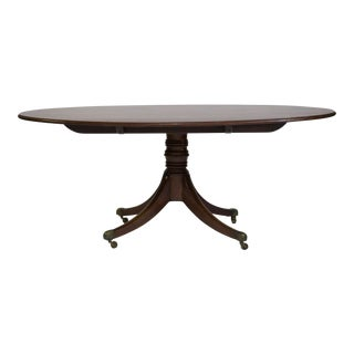 Federal Style Oval Pedestal Base Dining Table