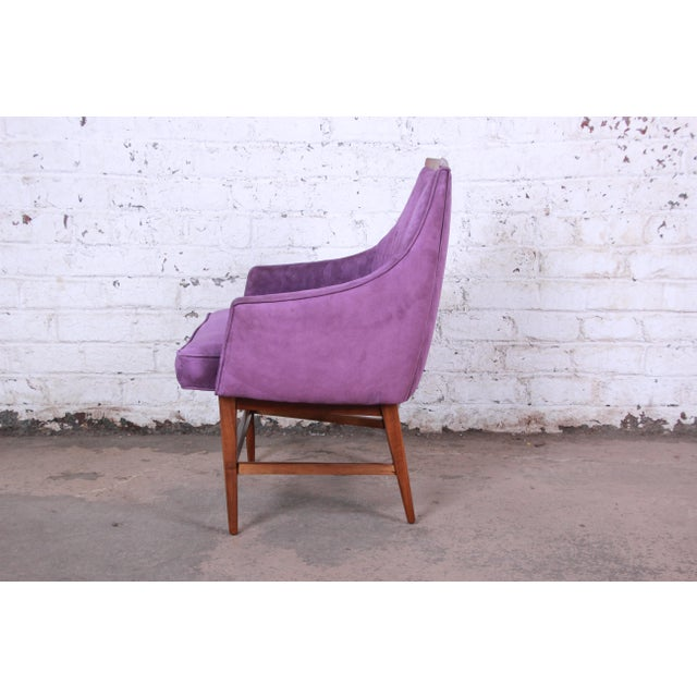 Kipp Stewart for Directional Mid-Century Modern Lounge Chairs - a Pair For Sale In South Bend - Image 6 of 13