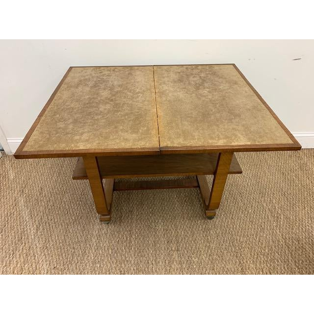 American Deco Side Table With Pivoting Fold-Out Top For Sale - Image 4 of 10