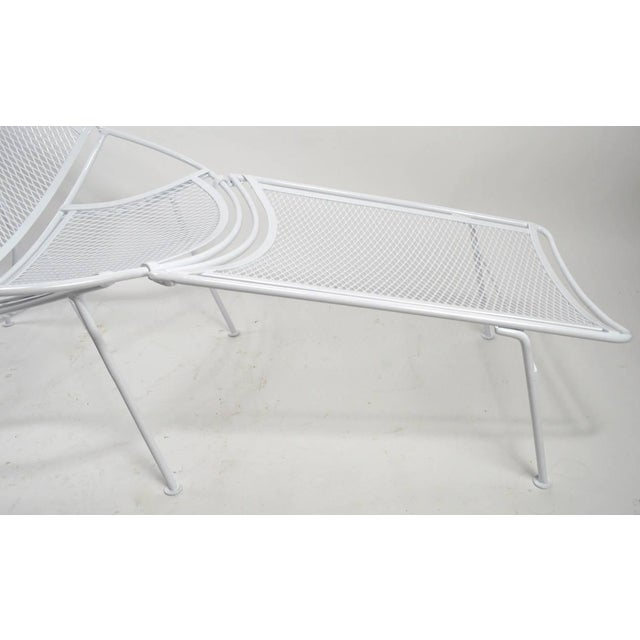 Metal Tempestini for Salterini High Back Lounge With Footrest For Sale - Image 7 of 9