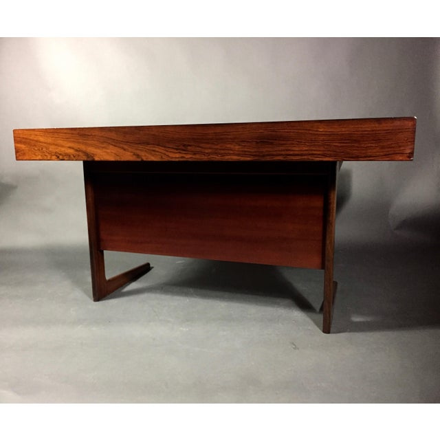 """1970 """"Cassette"""" Desk in Rosewood, Style of Georg Petersens For Sale - Image 11 of 12"""
