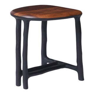 Walnut Stool by Valentin Loellmann For Sale