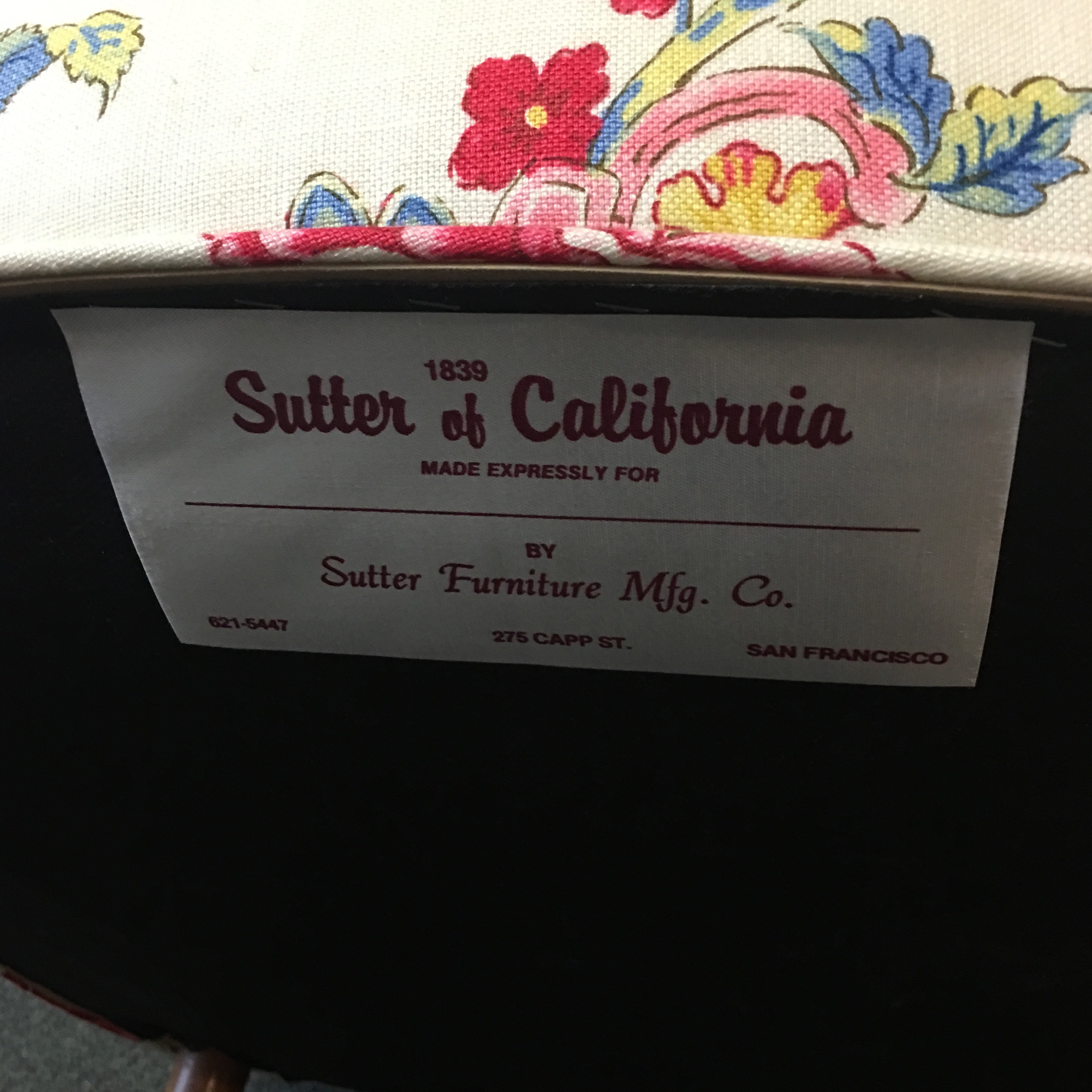 Sutter Furniture Floral Side Chair   Image 7 Of 7