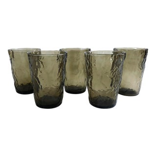 Vintage Gray Amorphous Juice Glasses - Set of 5 For Sale