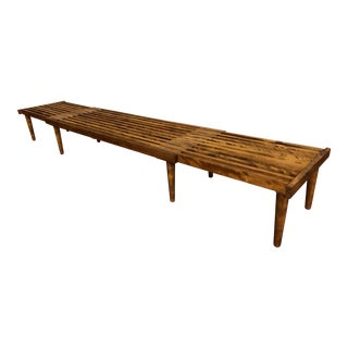 Mid Century John Keal for Brown Saltman Expandable Slat Bench For Sale