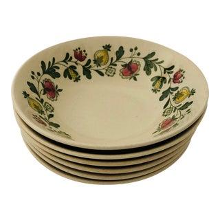 Vintage Johnson Bros Gretchen Set of 6 Cereal/Salad Bowls For Sale