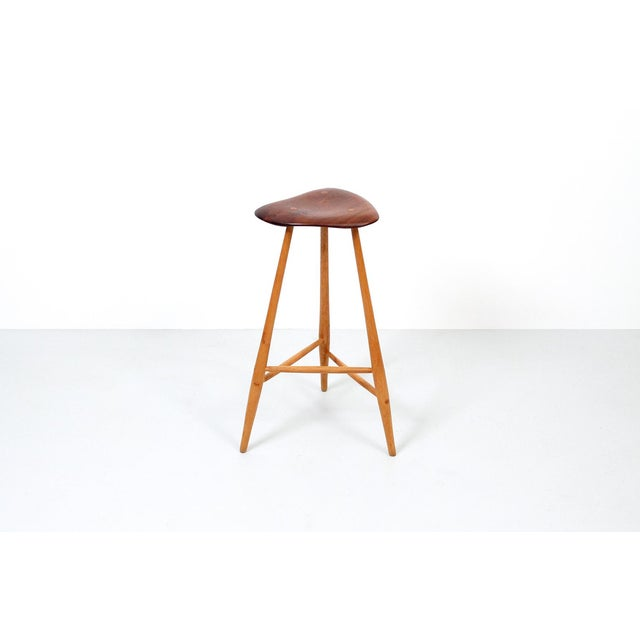 1980s Barstool by Horace B. Hartshaw For Sale - Image 11 of 12