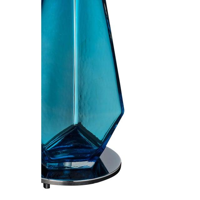 """2010s Blue """"Specchiate"""" Murano Glass Lamps For Sale - Image 5 of 10"""