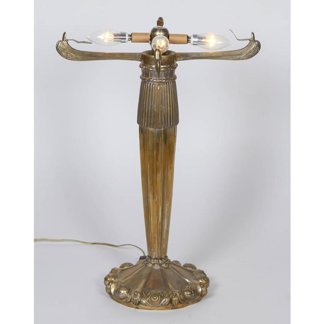 "Orange Table Lamp with a Rene Lalique ""Rinceaux"" Shade For Sale - Image 8 of 10"